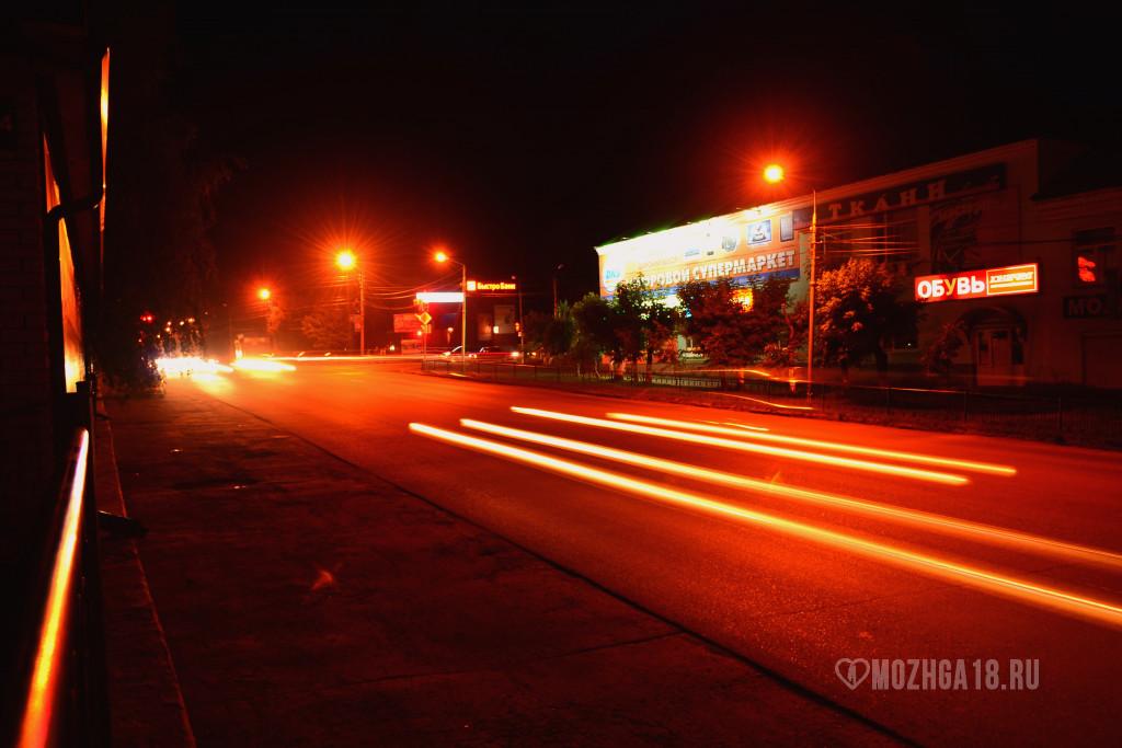 Ночная Можга, центр